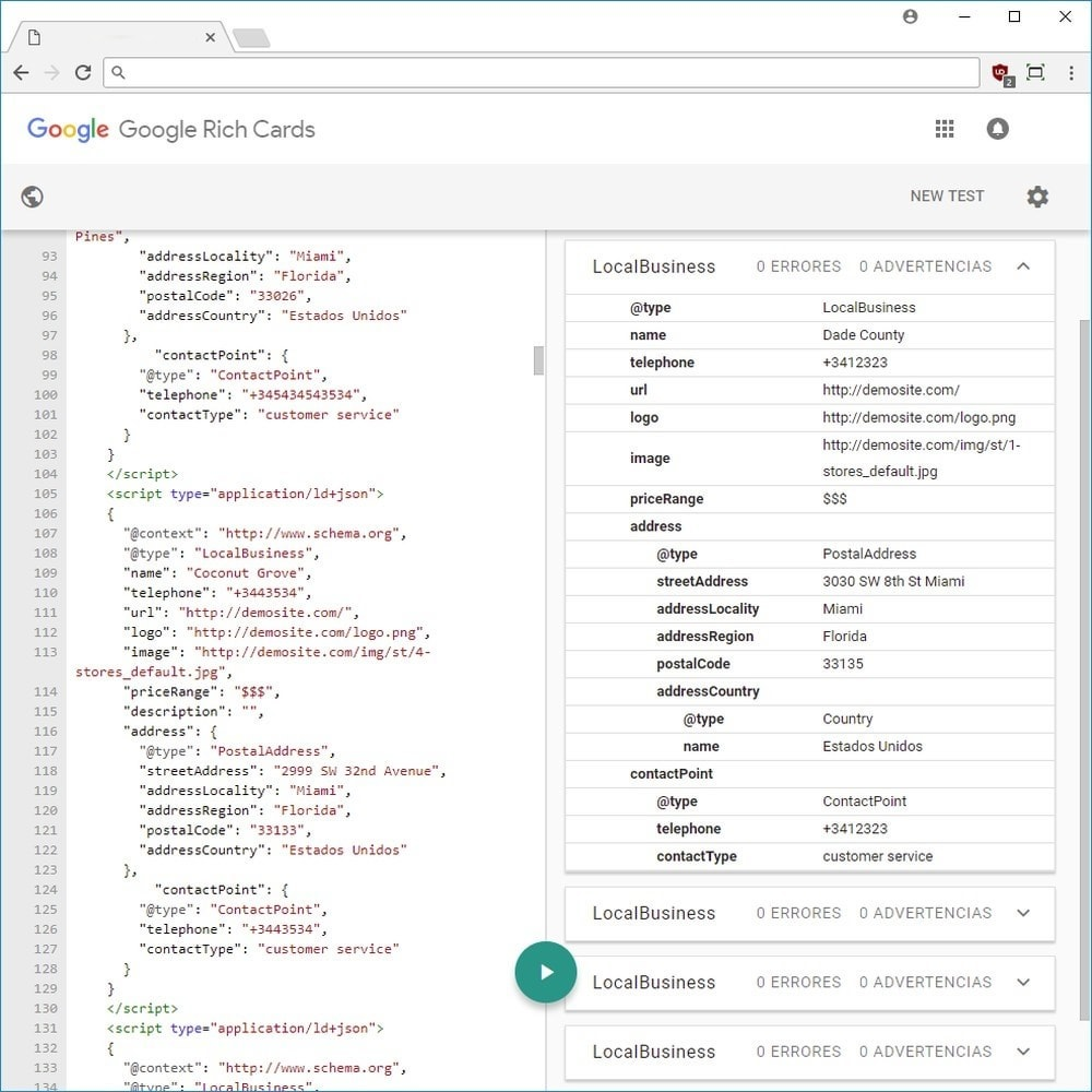 module - Естественная поисковая оптимизация - Google Rich Snippets (Cards) LD + JSON + Twitter - 5