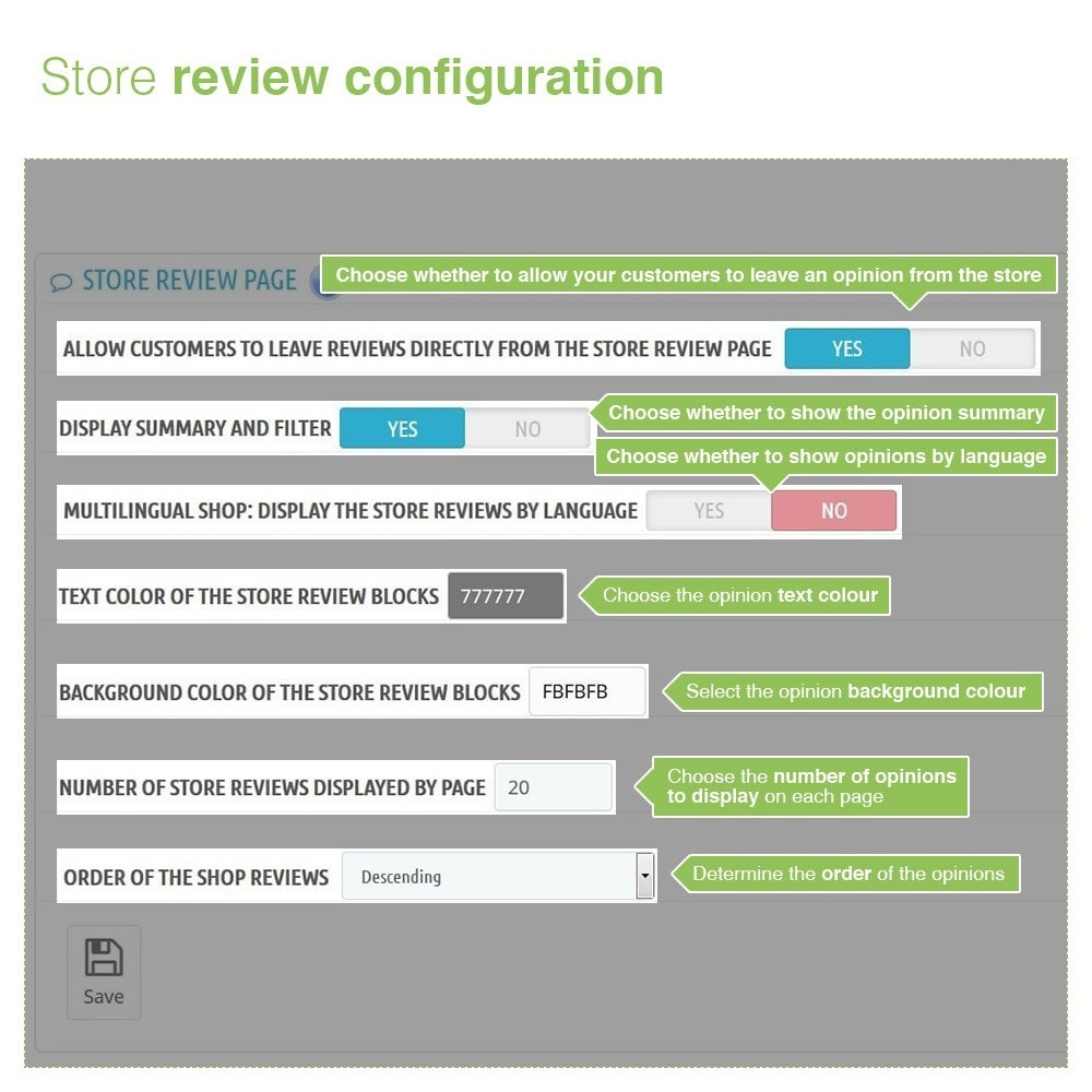module - Customer Reviews - Store Reviews + Product Reviews + Google Rich Snippets - 8