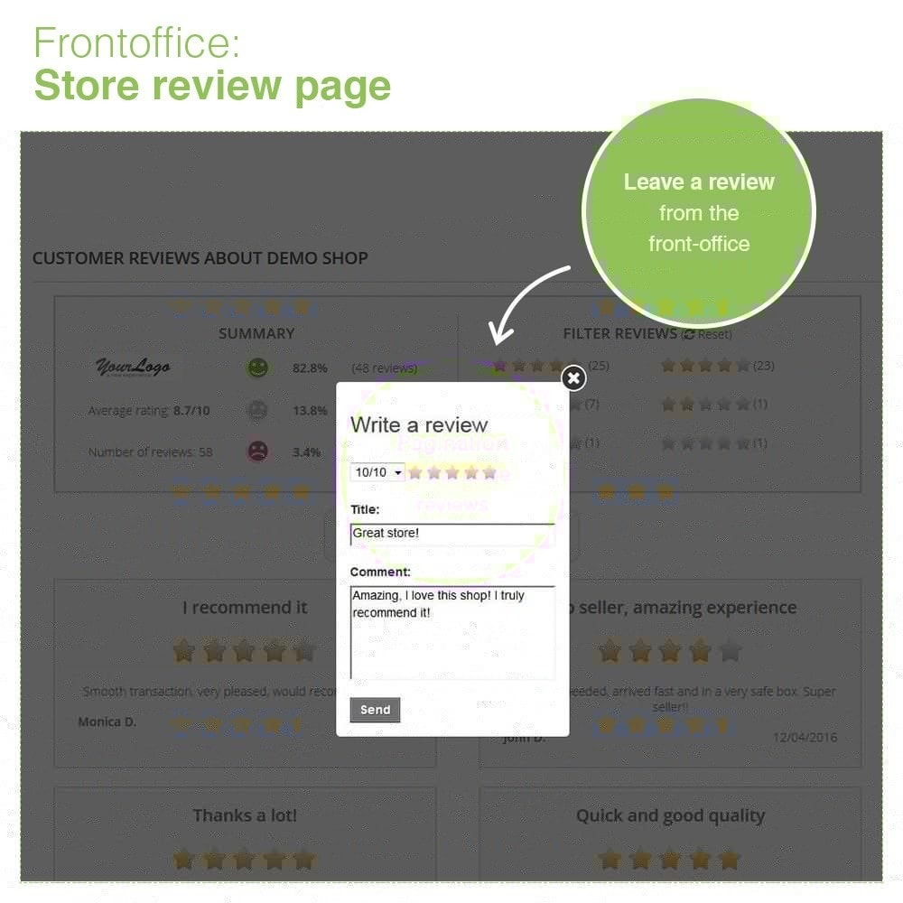 module - Customer Reviews - Store Reviews + Product Reviews + Google Rich Snippets - 10
