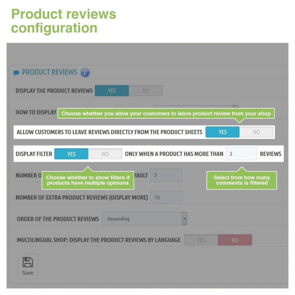 module - Customer Reviews - Store Reviews + Product Reviews + Google Rich Snippets - 14