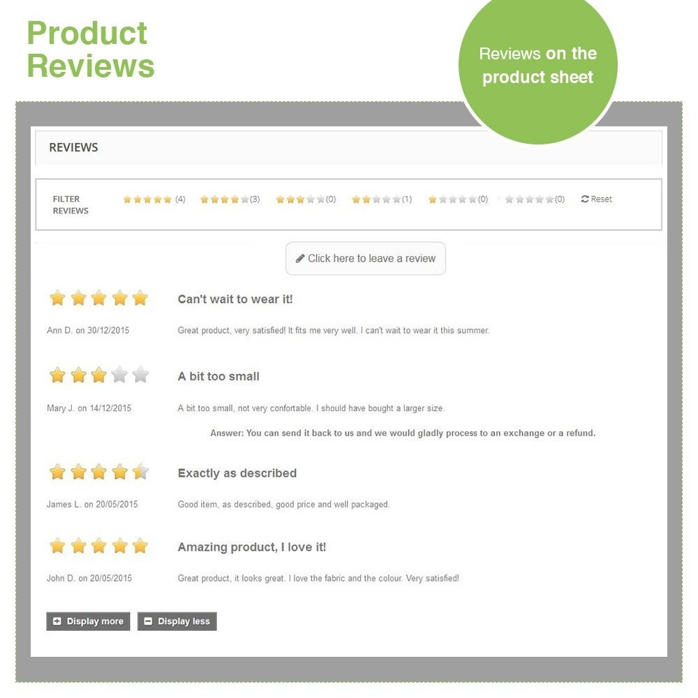 module - Customer Reviews - Store Reviews + Product Reviews + Google Rich Snippets - 20
