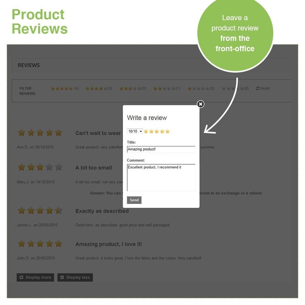 module - Customer Reviews - Store Reviews + Product Reviews + Google Rich Snippets - 21