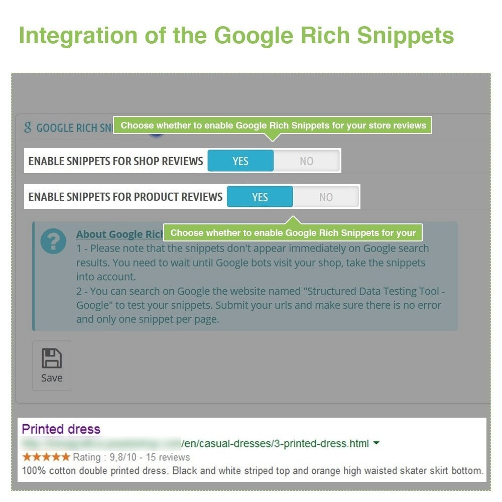 module - Customer Reviews - Store Reviews + Product Reviews + Google Rich Snippets - 22