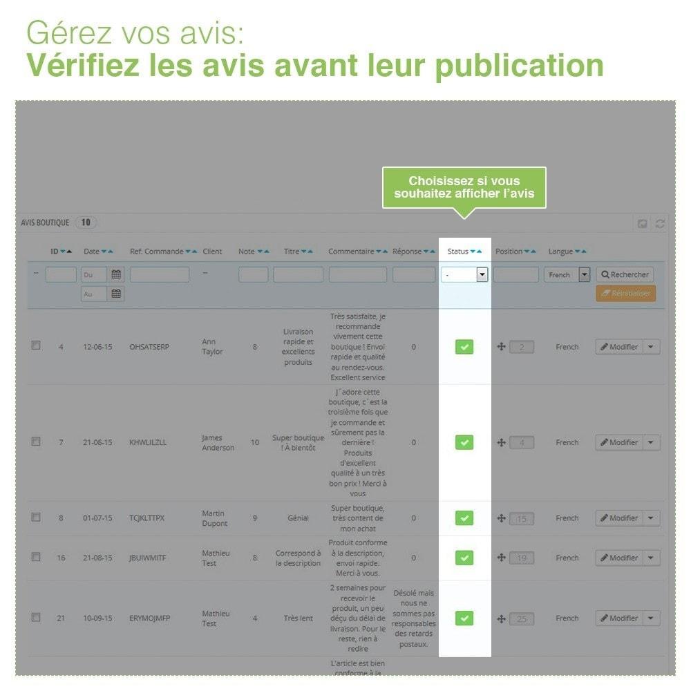 module - Avis clients - Avis Boutique + Avis Produits + Google Rich Snippets - 36