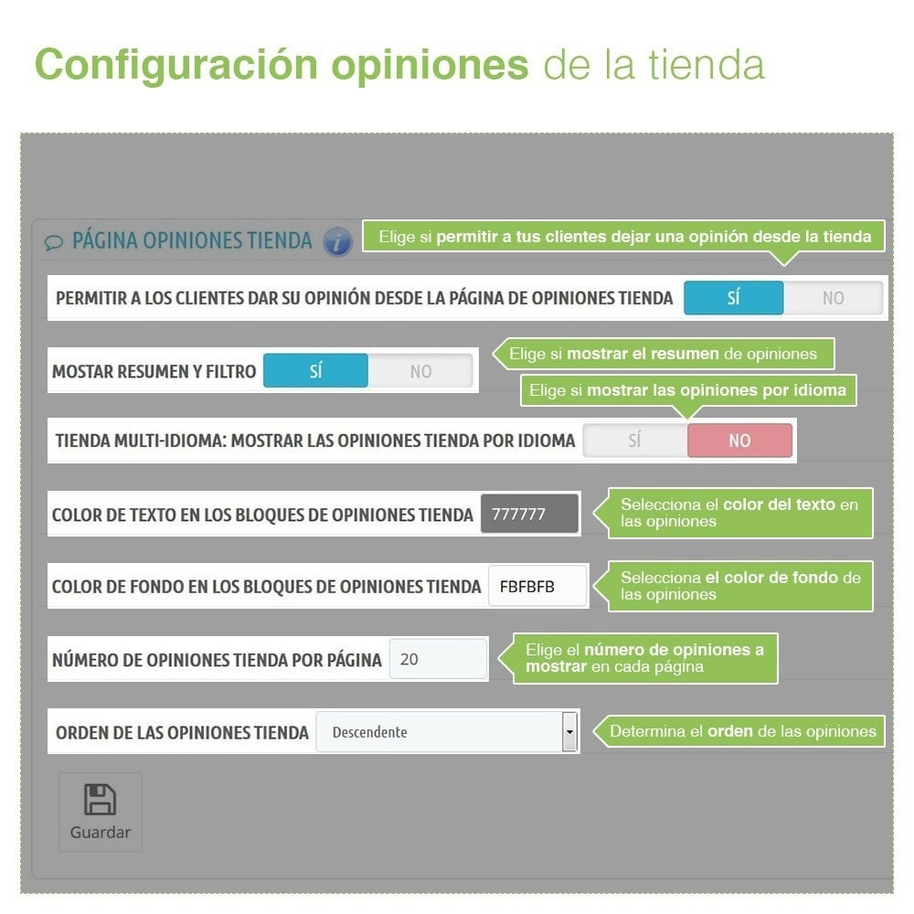 module - Comentarios de clientes - Opiniones Tienda + Opiniones Productos + Rich Snippets - 7