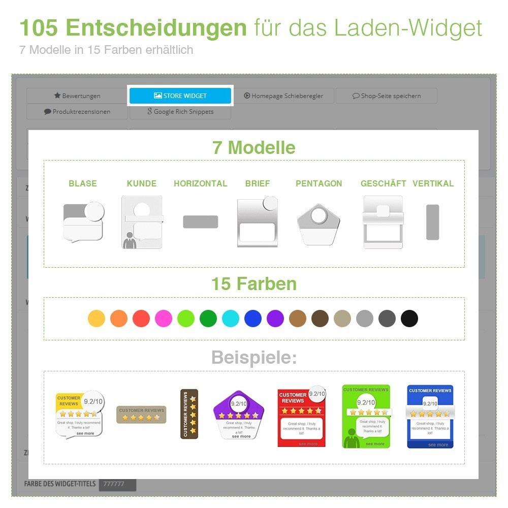 module - Kundenbewertungen - Store und Produkt Bewertungen + Google Rich Snippets - 5