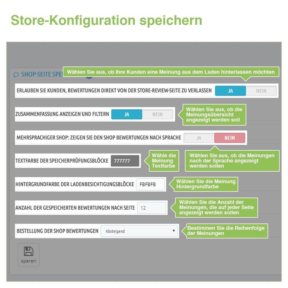 module - Kundenbewertungen - Store und Produkt Bewertungen + Google Rich Snippets - 8