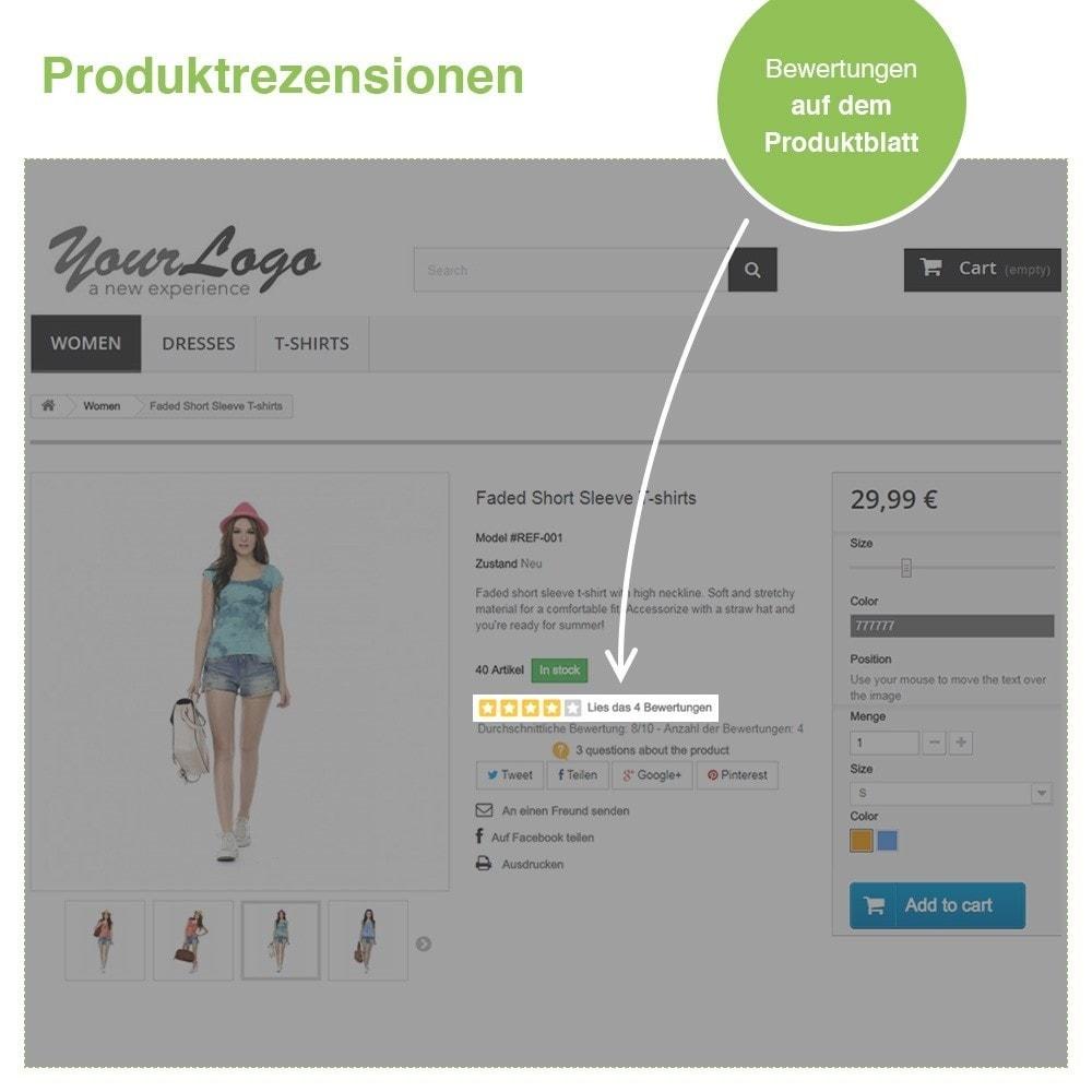 module - Kundenbewertungen - Store und Produkt Bewertungen + Google Rich Snippets - 19