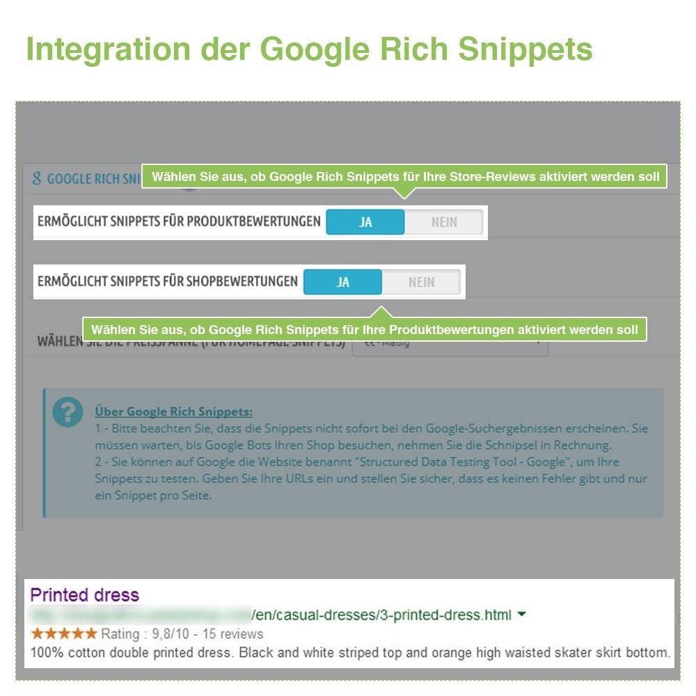 module - Kundenbewertungen - Store und Produkt Bewertungen + Google Rich Snippets - 22