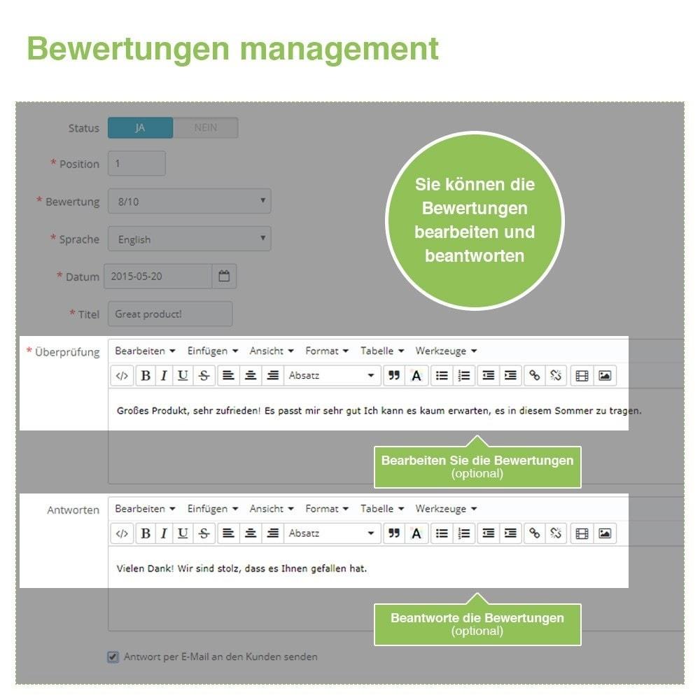 module - Kundenbewertungen - Store und Produkt Bewertungen + Google Rich Snippets - 37