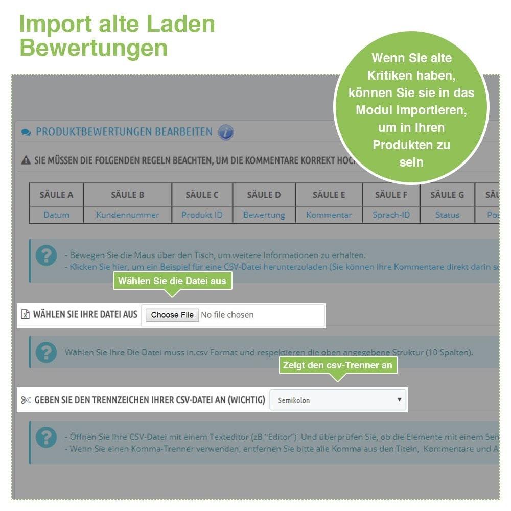 module - Kundenbewertungen - Store und Produkt Bewertungen + Google Rich Snippets - 39