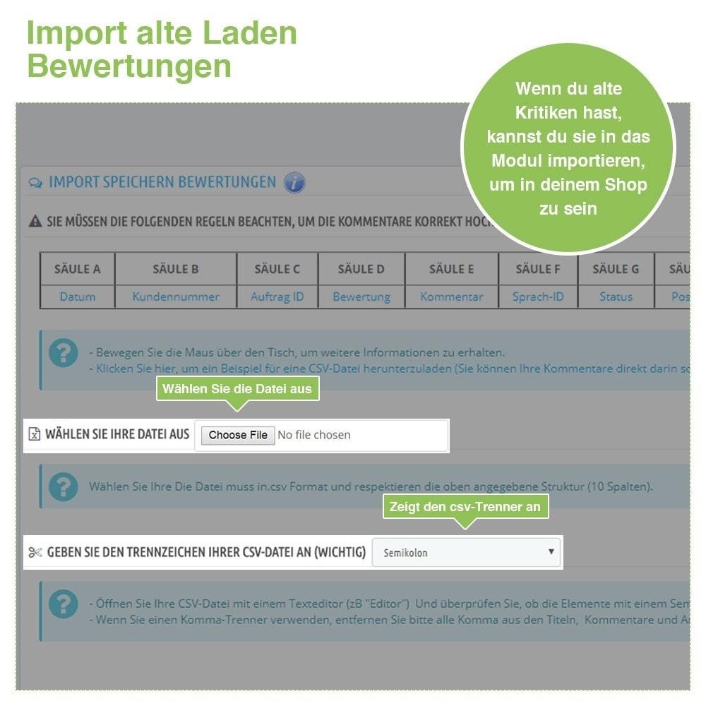 module - Kundenbewertungen - Store und Produkt Bewertungen + Google Rich Snippets - 40
