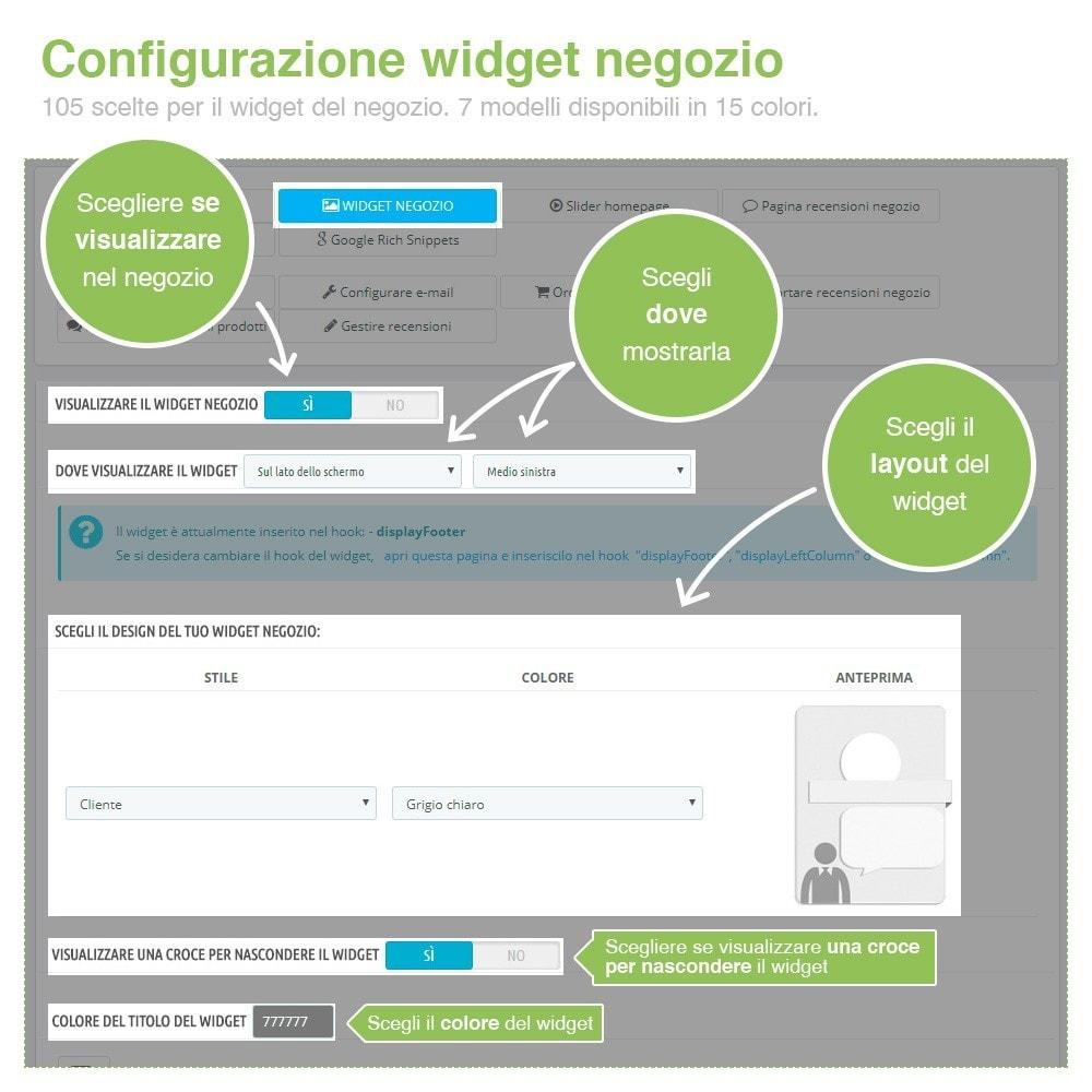 module - Recensioni clienti - Recensioni Negozio + Recensioni Prodotti + Snippets - 4