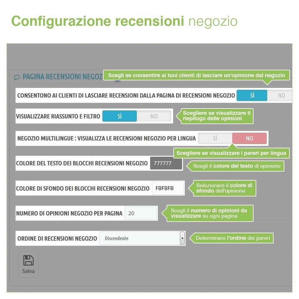 module - Recensioni clienti - Recensioni Negozio + Recensioni Prodotti + Snippets - 8