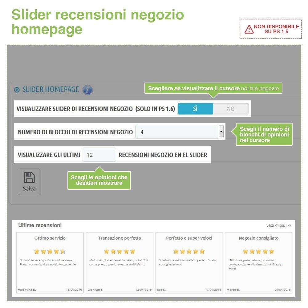 module - Recensioni clienti - Recensioni Negozio + Recensioni Prodotti + Snippets - 12