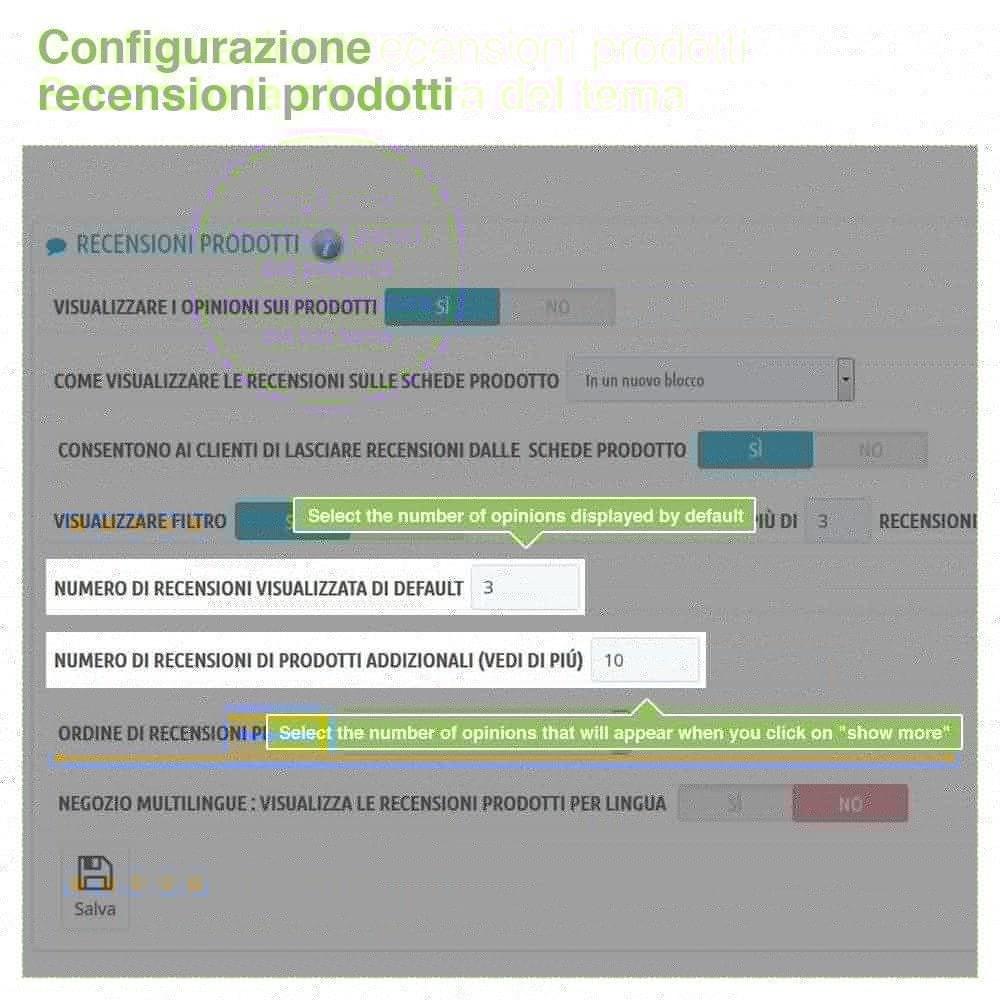module - Recensioni clienti - Recensioni Negozio + Recensioni Prodotti + Snippets - 15