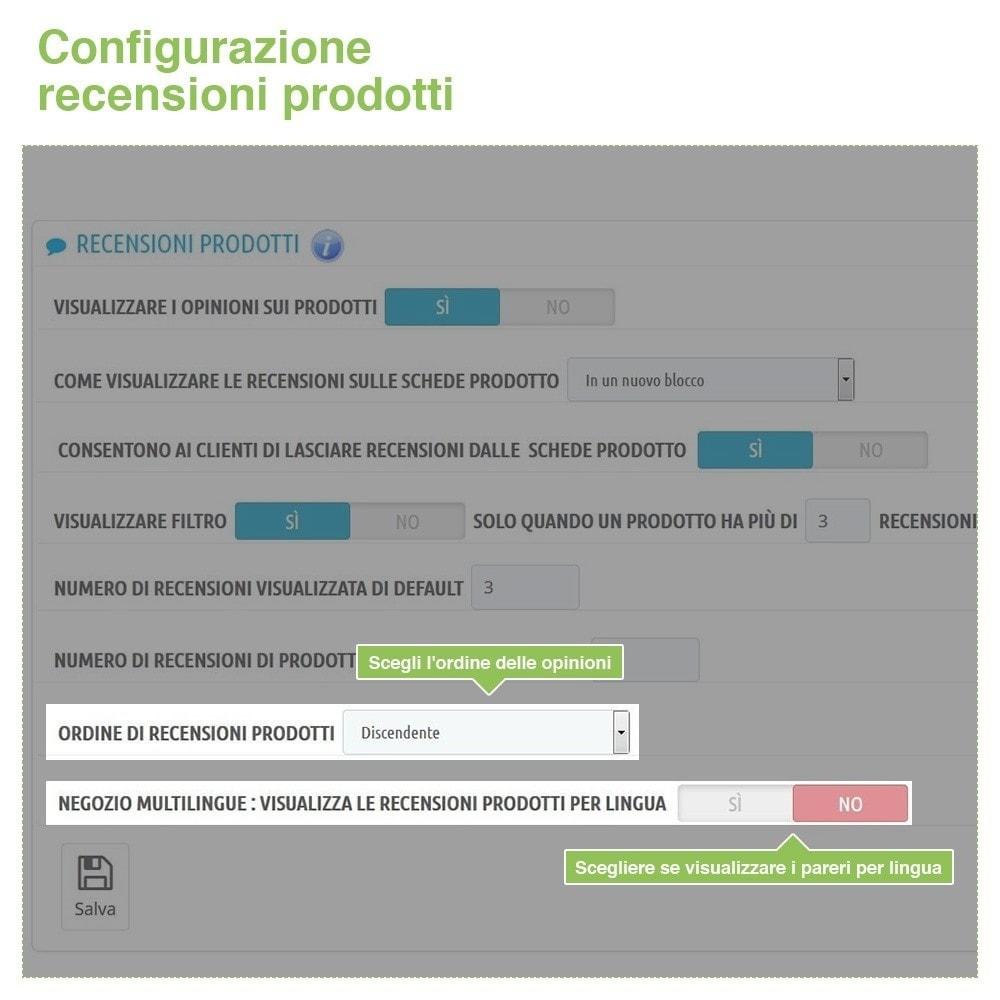module - Recensioni clienti - Recensioni Negozio + Recensioni Prodotti + Snippets - 16