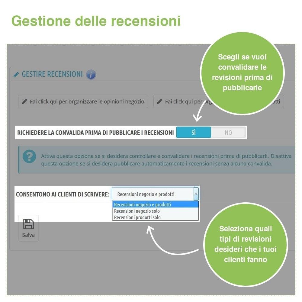 module - Recensioni clienti - Recensioni Negozio + Recensioni Prodotti + Snippets - 34