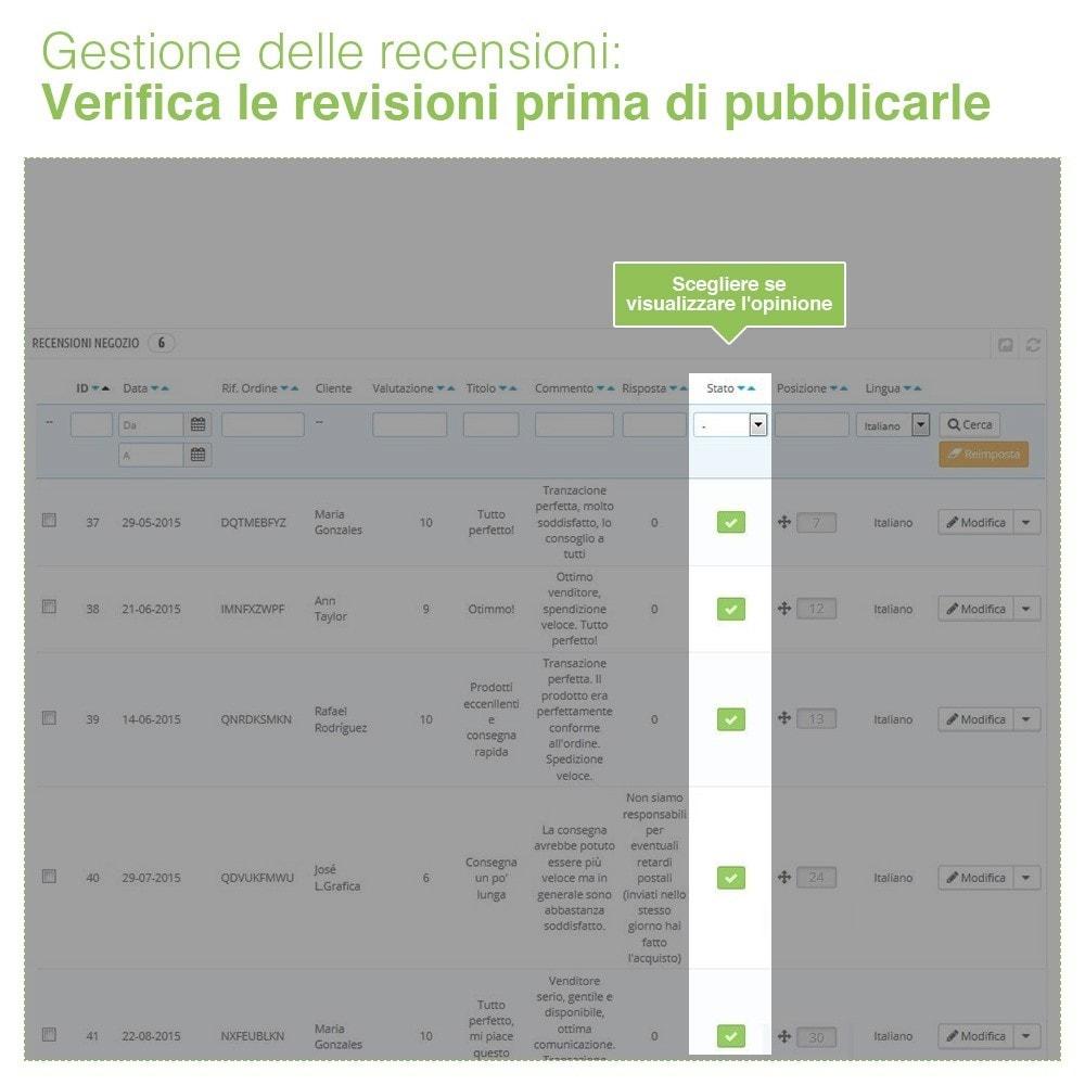 module - Recensioni clienti - Recensioni Negozio + Recensioni Prodotti + Snippets - 36
