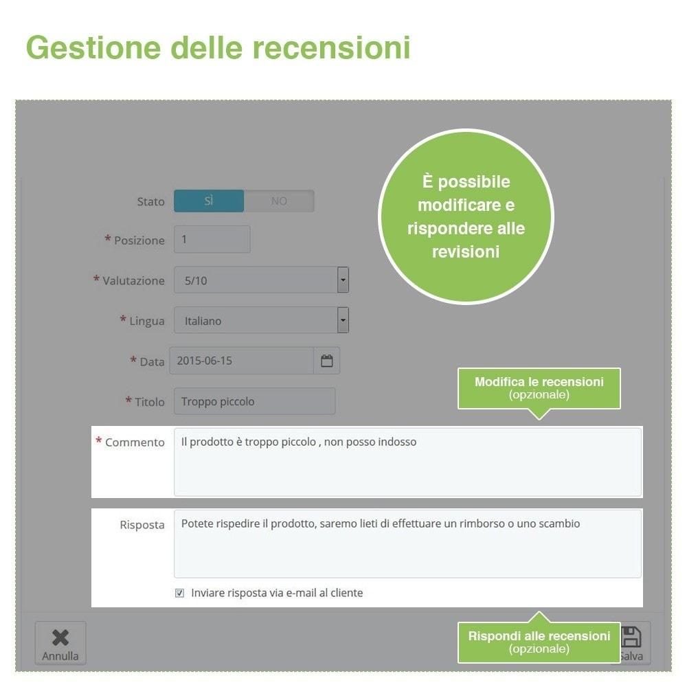 module - Recensioni clienti - Recensioni Negozio + Recensioni Prodotti + Snippets - 37