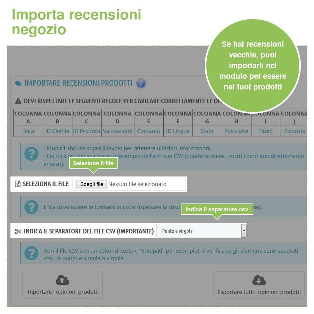 module - Recensioni clienti - Recensioni Negozio + Recensioni Prodotti + Snippets - 40