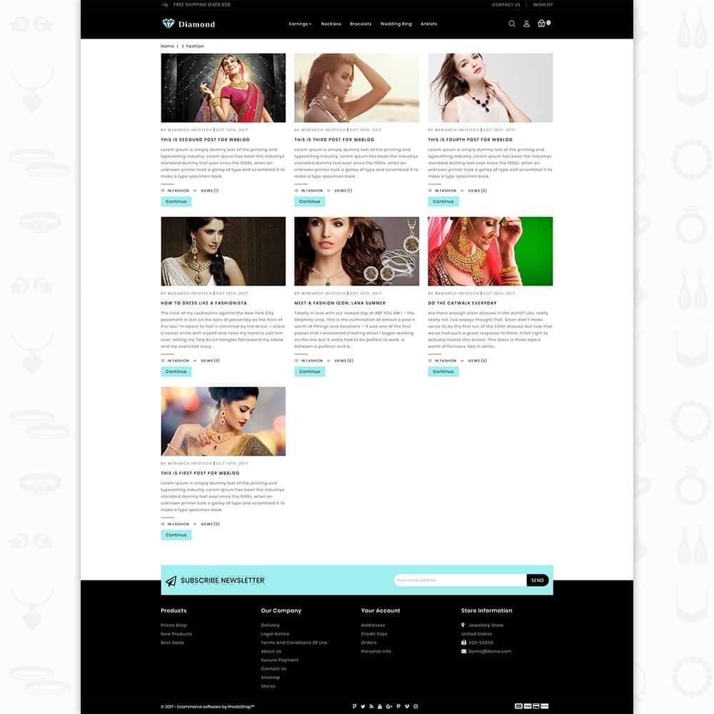 theme - Здоровье и красота - Diamond Jewellery Shop - 6