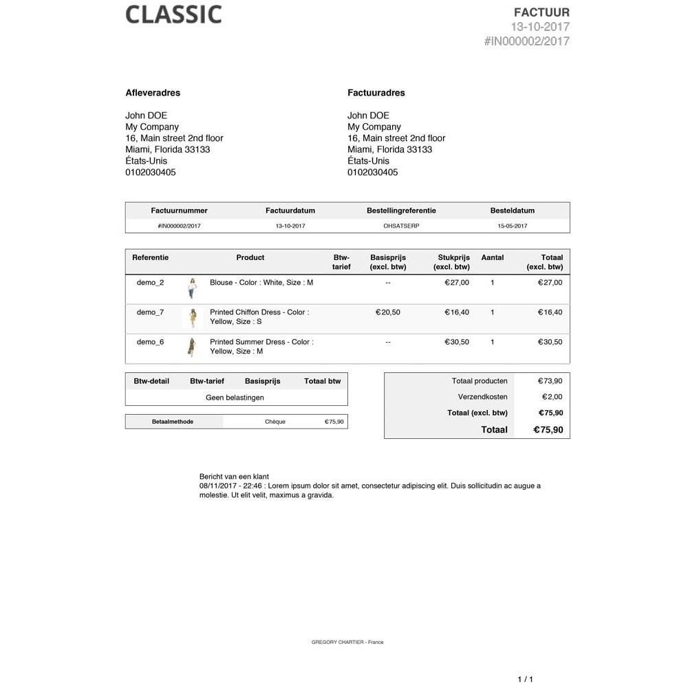 module - Orderbeheer - Klant berichten op factuur en/of leveringsbon - 3