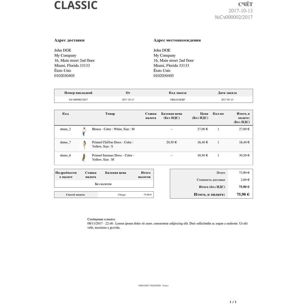 module - Управление заказами - Сообщения клиентов на счете и(или) товарной накладной - 3