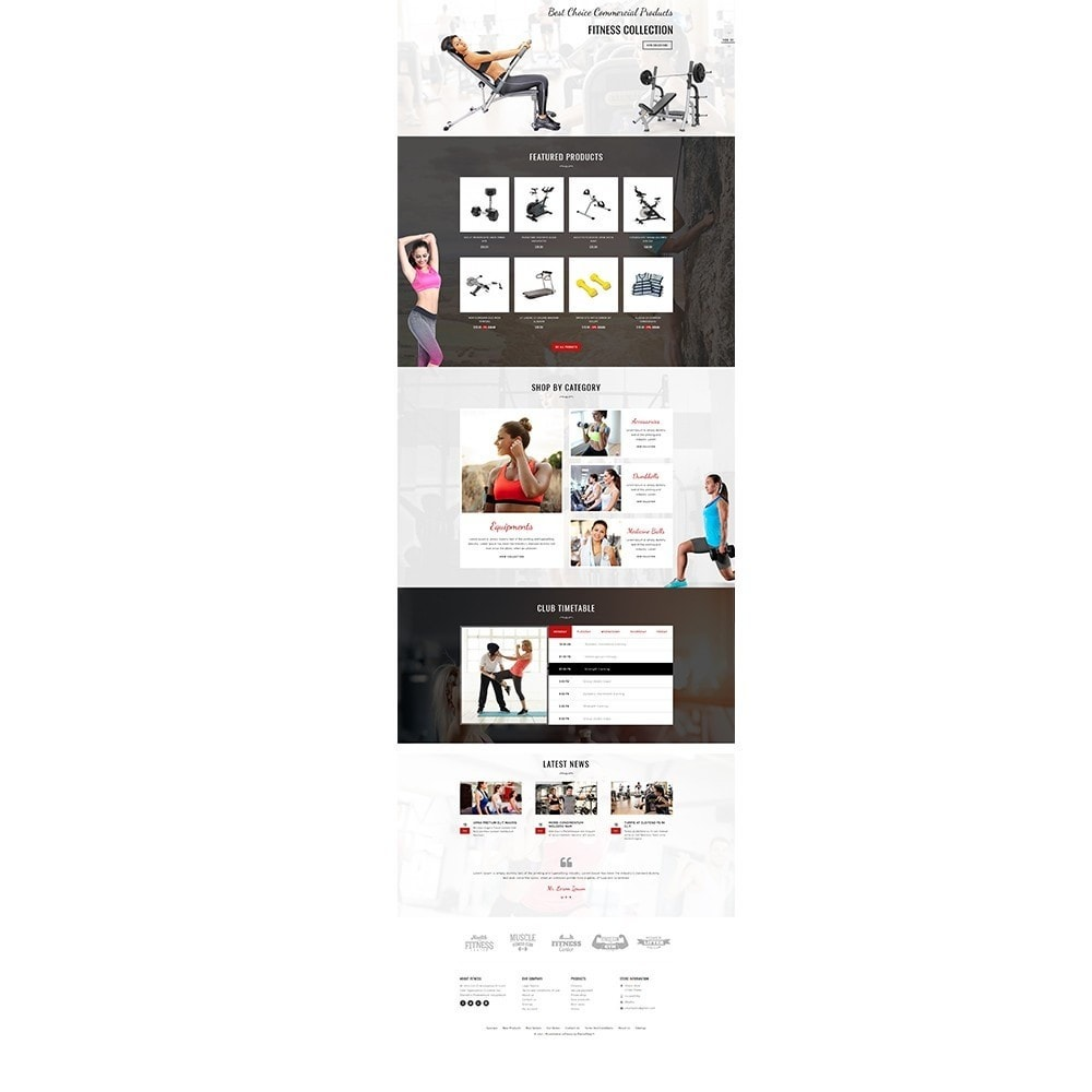 theme - Salud y Belleza - Fitness Store - 2