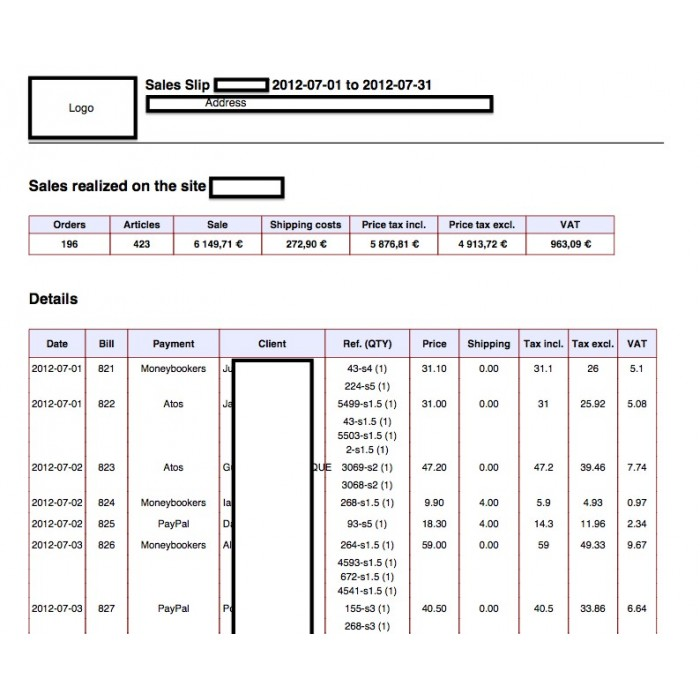 module - Importación y Exportación de datos - Sales Slip Export PDF & CSV - 11
