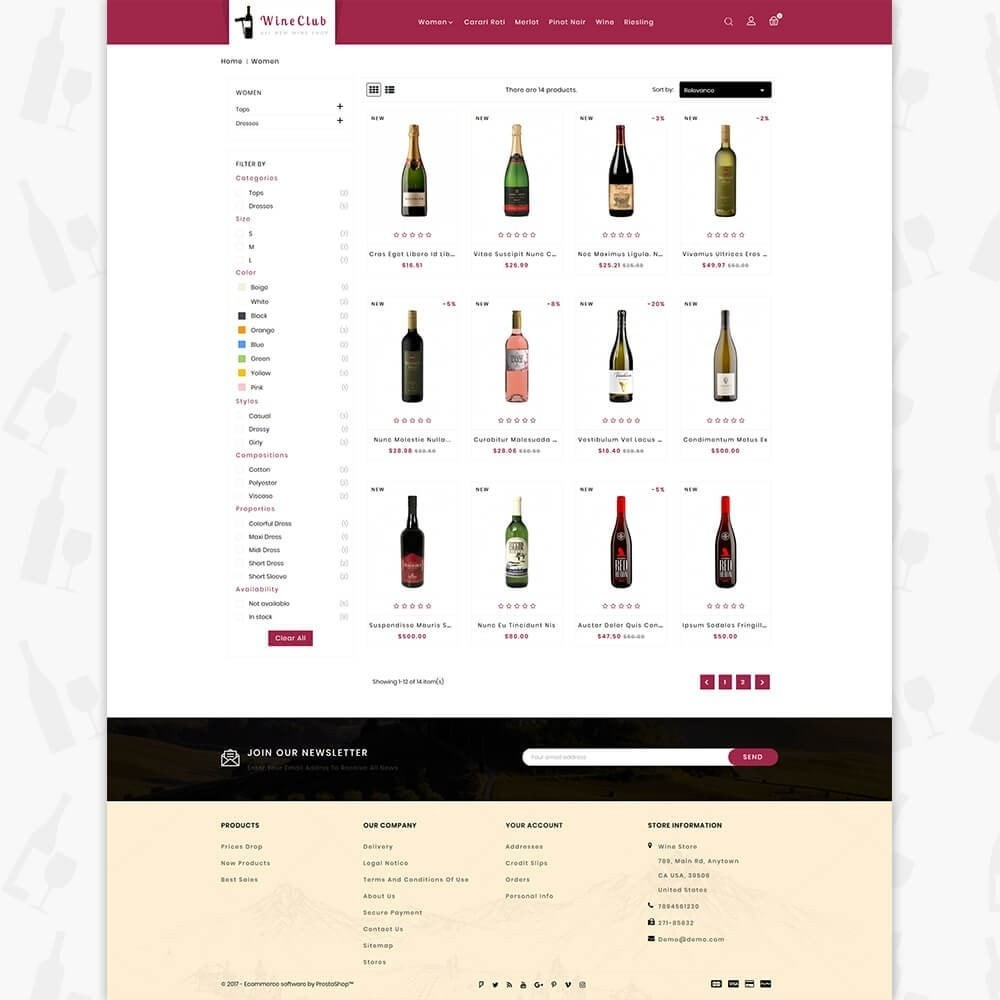 theme - Boissons & Tabac - Wine Club Store - 3