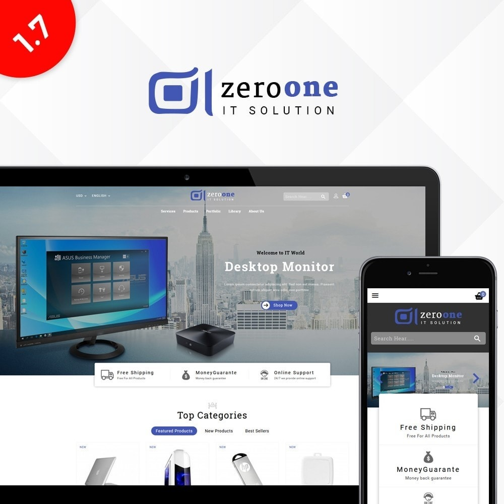 theme - Elektronik & High Tech - Zeroone IT-services Store - 1