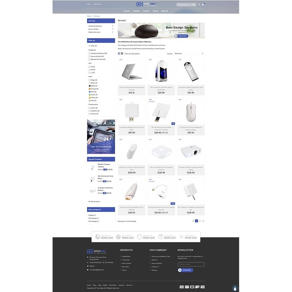 theme - Elektronica & High Tech - Zeroone IT-services Store - 3