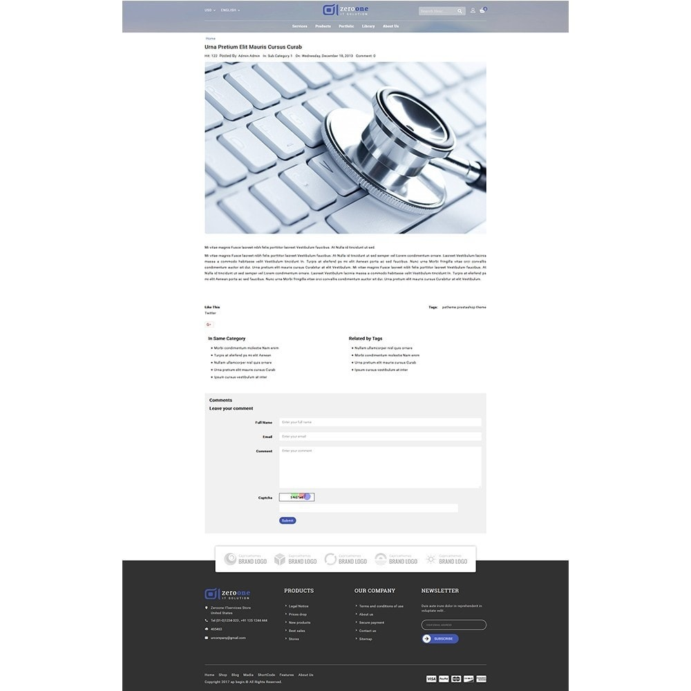 theme - Elektronica & High Tech - Zeroone IT-services Store - 8