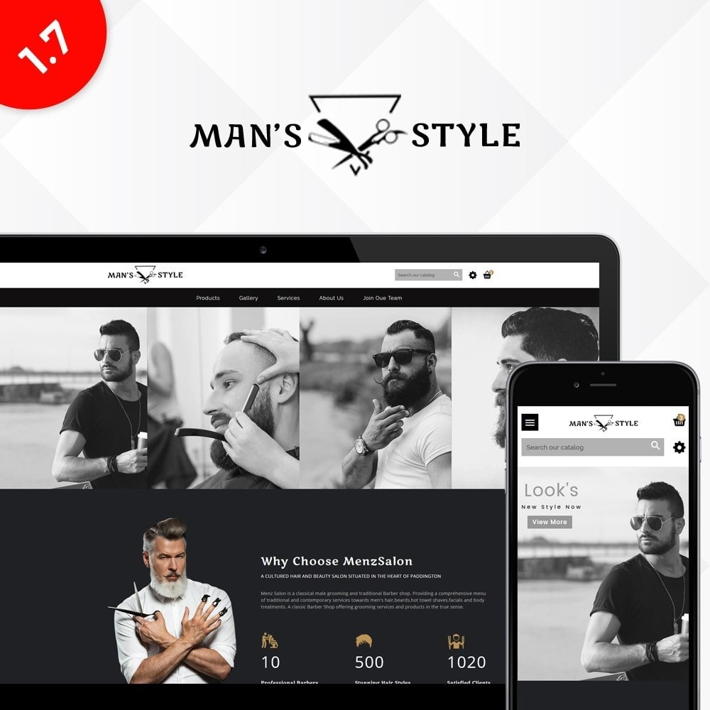theme - Health & Beauty - Men's Style Barber Store - 1