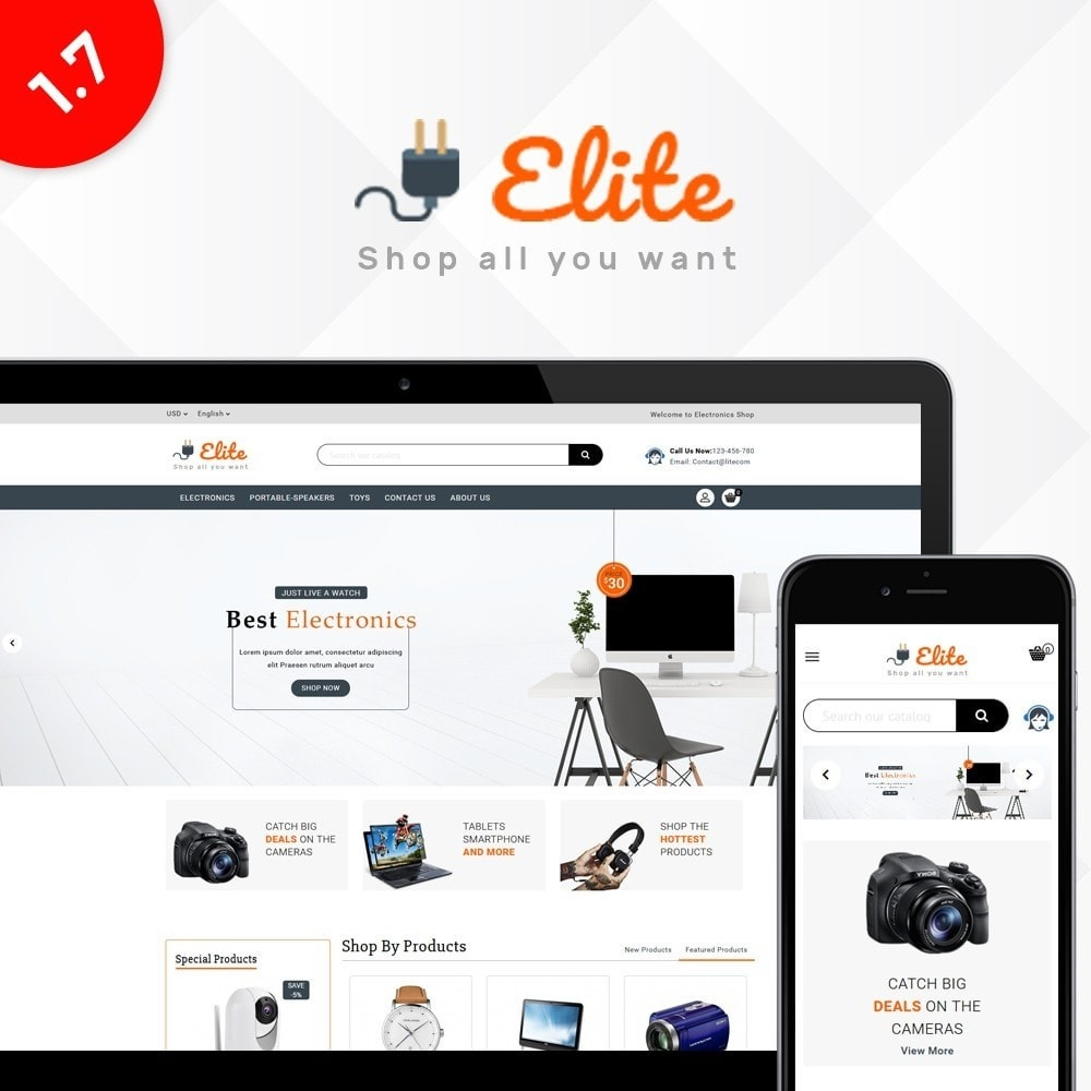 theme - Elettronica & High Tech - Elite Electronics Store - 1