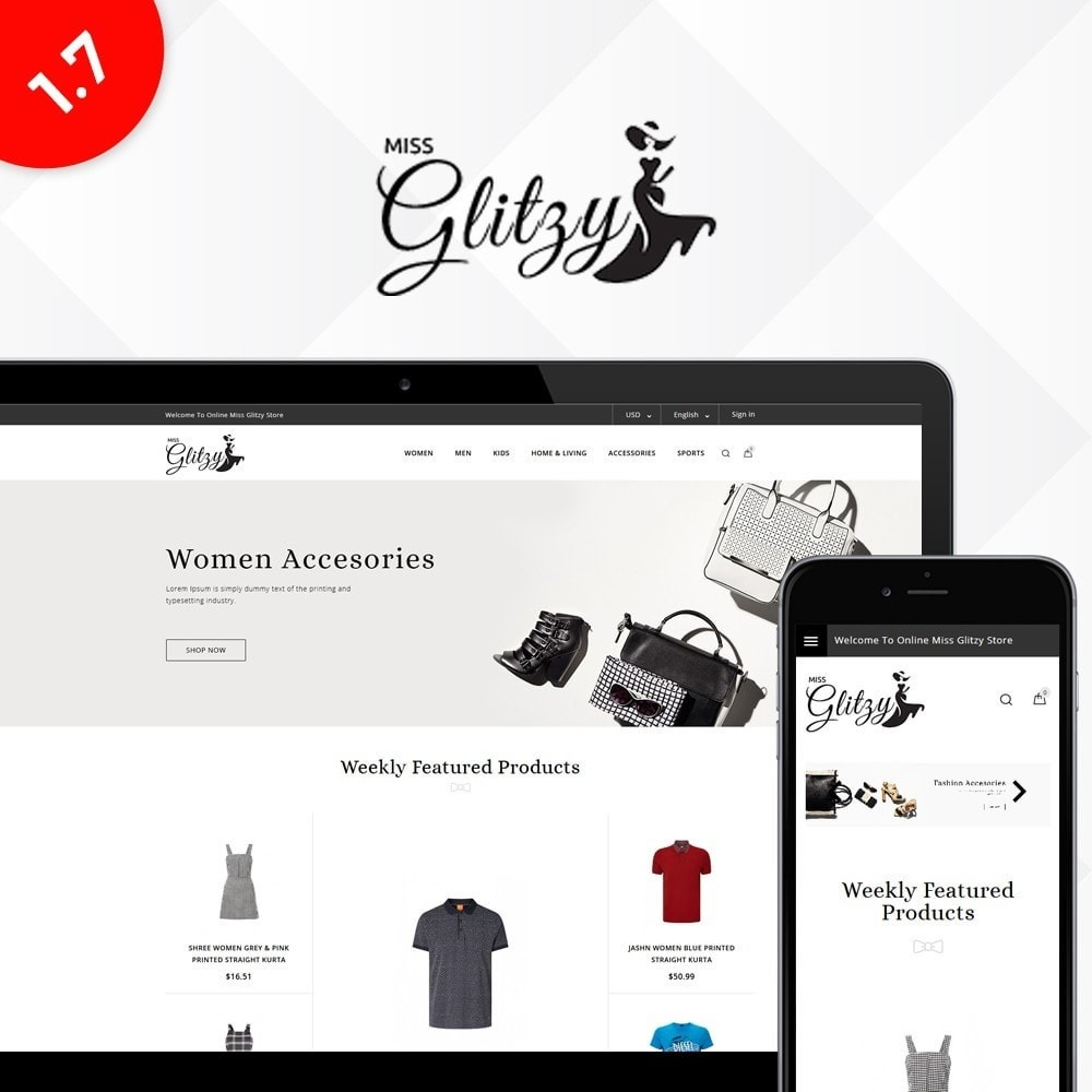 theme - Moda y Calzado - Miss Glitzy Fashion Store - 1