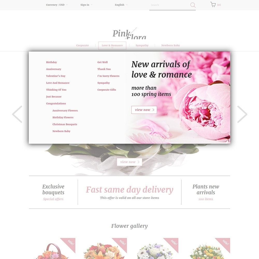 theme - Gifts, Flowers & Celebrations - Pink Flora - 5