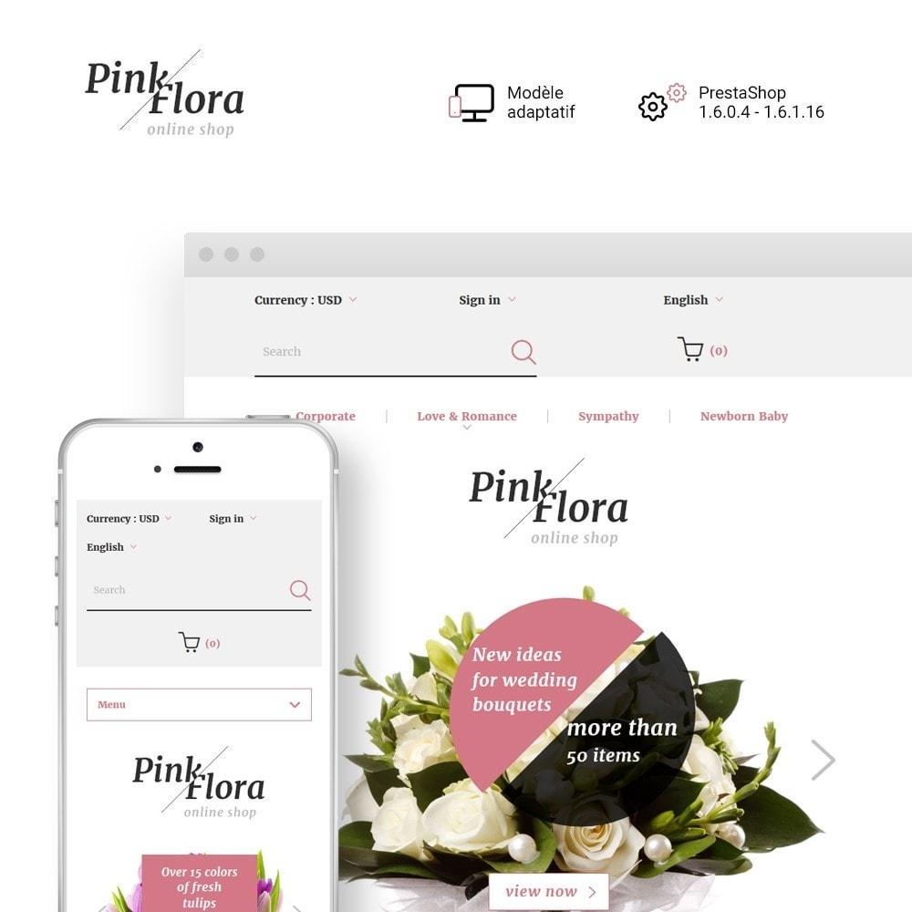 theme - Cadeaux, Fleurs et Fêtes - Pink Flora - 1