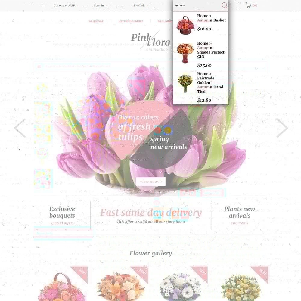 theme - Regalos, Flores y Celebraciones - Pink Flora - 6