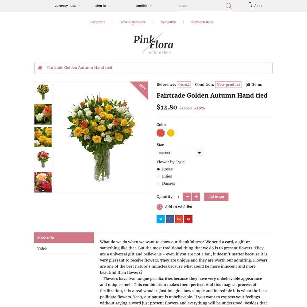 theme - Подарки, Цветы и праздничные товары - Pink Flora - 3