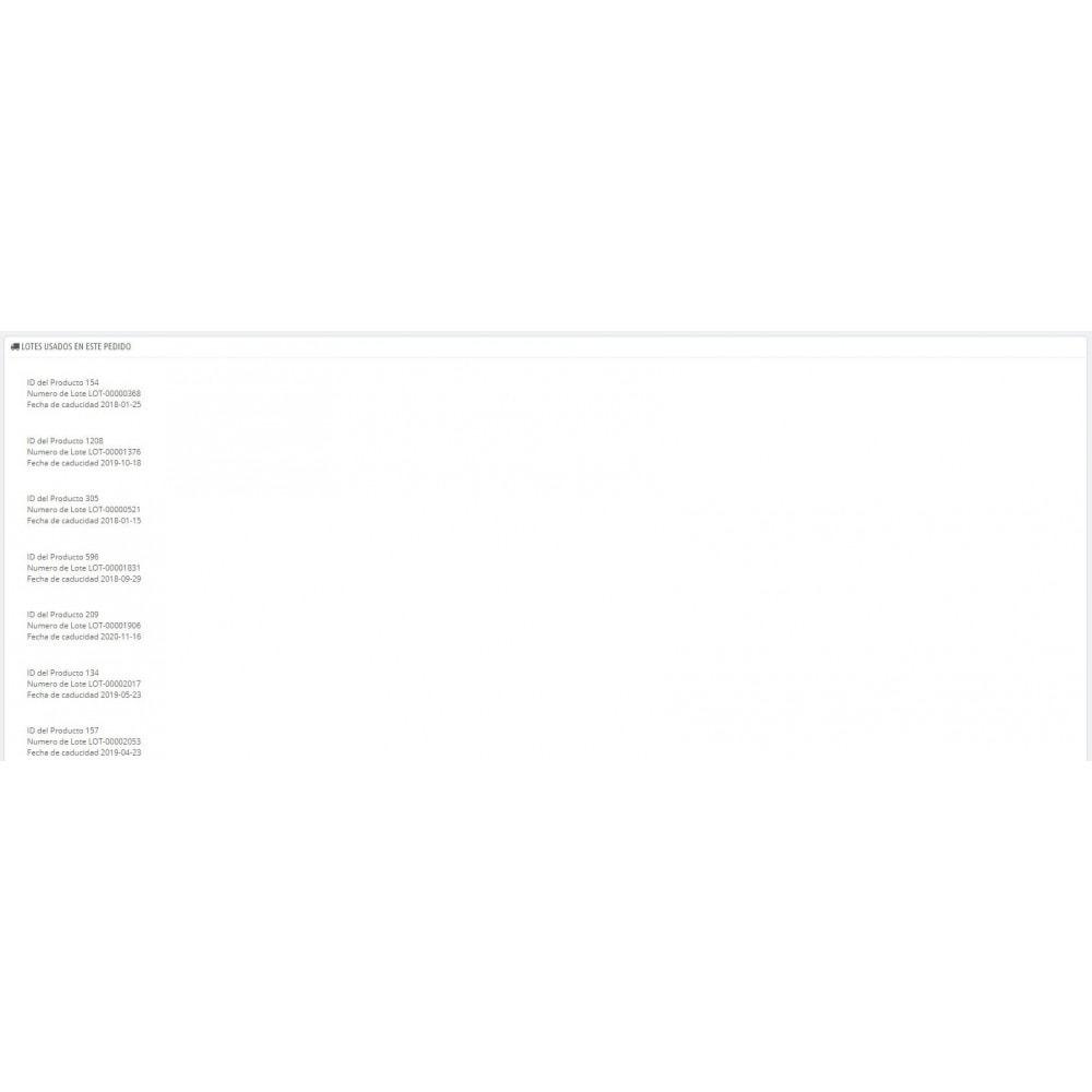 module - Gestión de Stock y de Proveedores - Trazabilidad y fecha de caducidad - 2
