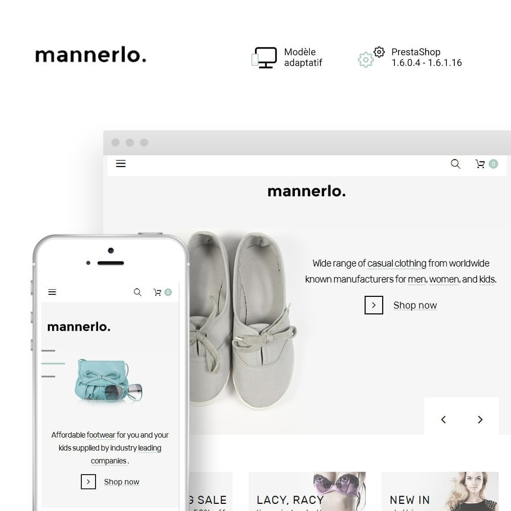 theme - Mode & Chaussures - Mannerlo - Apparel Responsive - 1