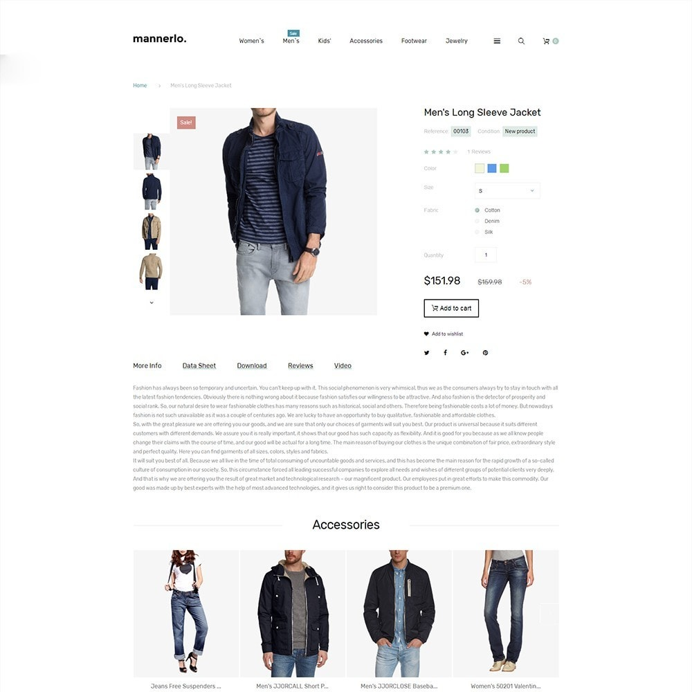 theme - Mode & Chaussures - Mannerlo - Apparel Responsive - 3