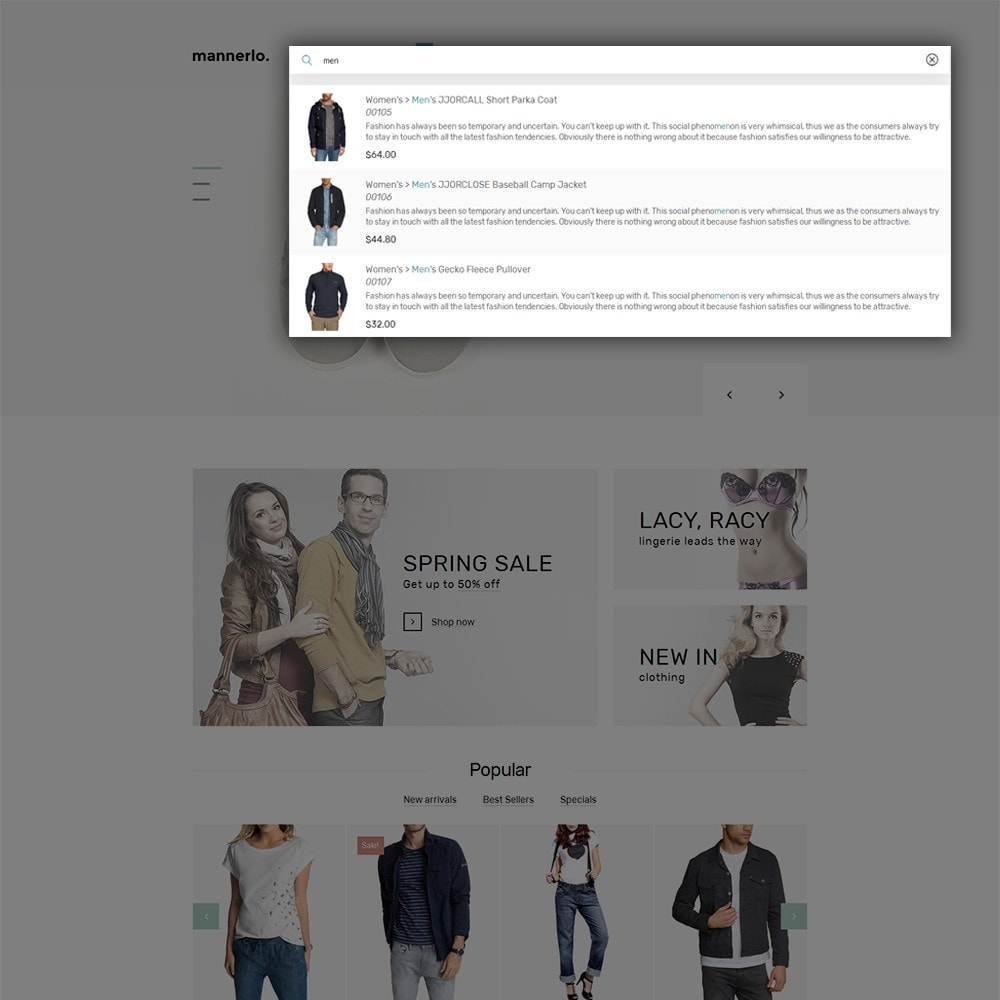 theme - Mode & Chaussures - Mannerlo - Apparel Responsive - 6