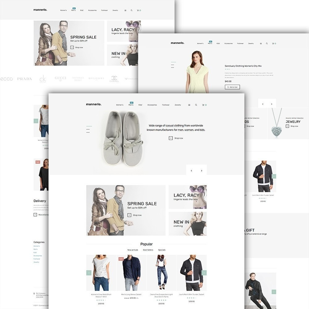 theme - Moda & Calzature - Mannerlo - Apparel Responsive - 2