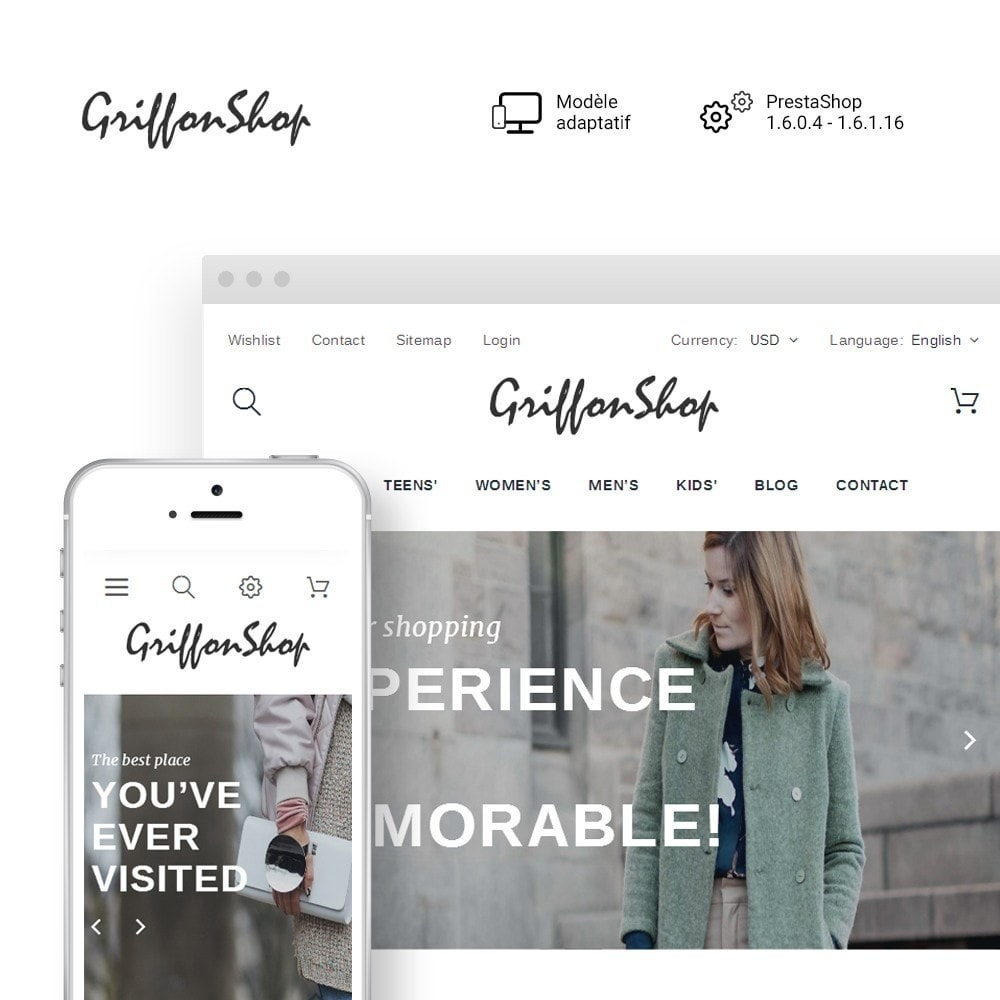 theme - Mode & Chaussures - Griffon Shop - Apparel - 1