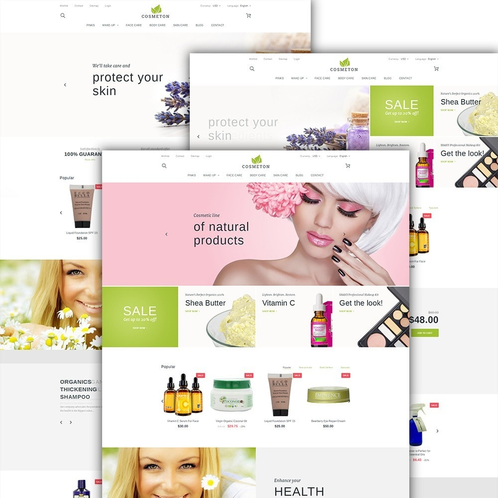 theme - Saúde & Beleza - Cosmeton - Skin Care - 2