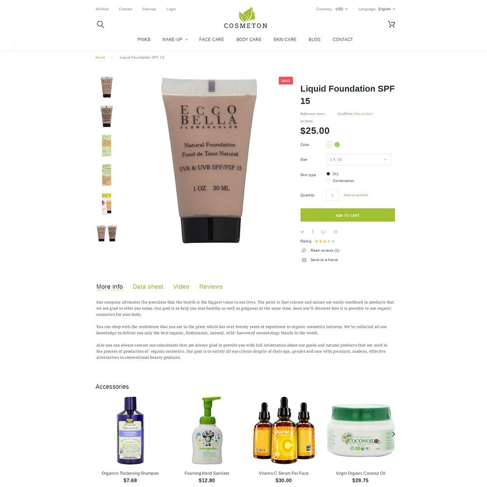 theme - Santé & Beauté - Cosmeton - Skin Care - 3