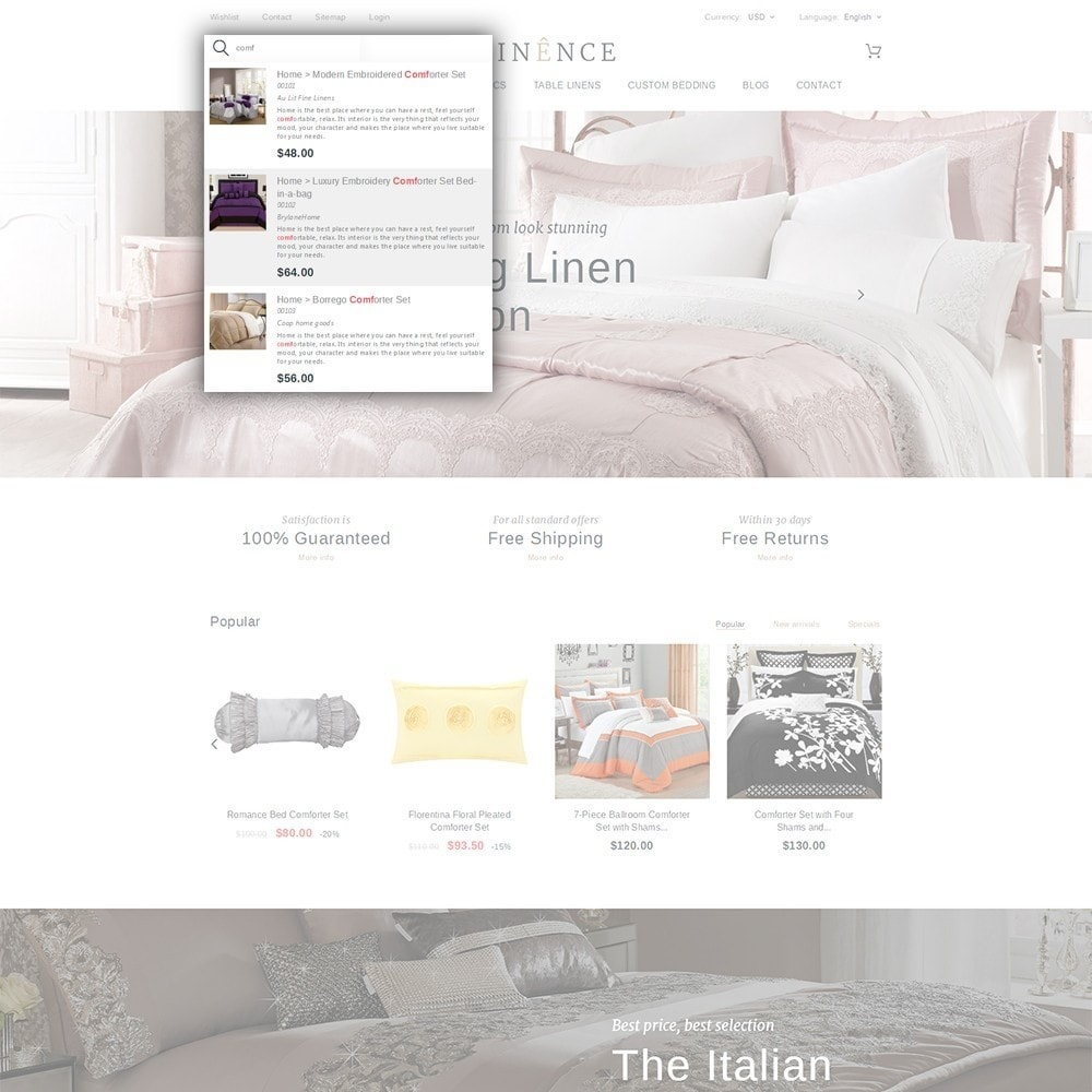 theme - Dom & Ogród - Linence - Bed Linen - 6